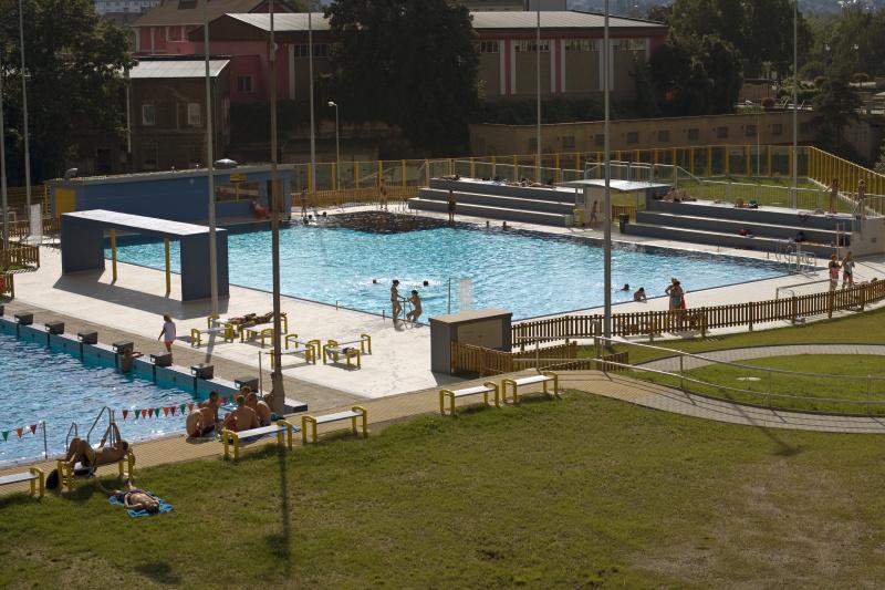 Foto nerezového bazénu