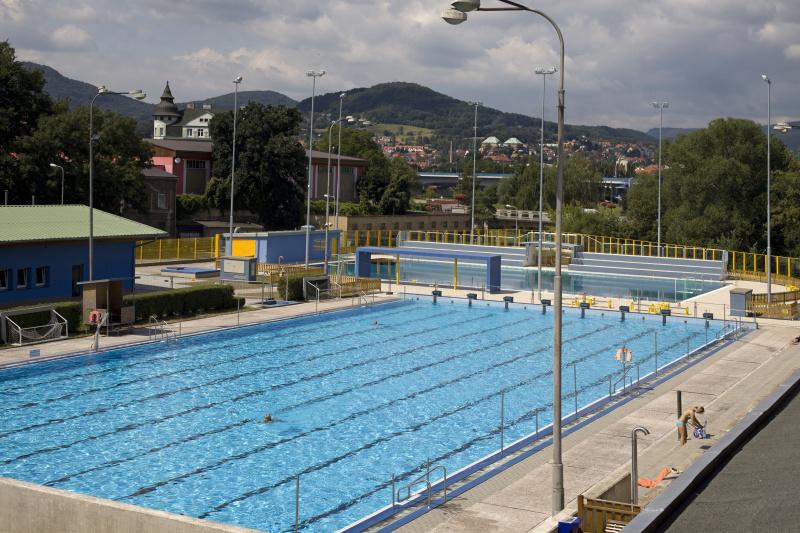 Foto padesátimetrového bazénu